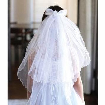 Angels Garment Girls White Rhinestone Tiara Pencil Edge Communion Veil