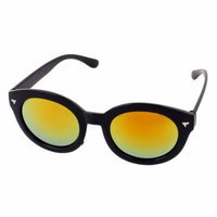 Unisex Yellow Oval Shape Lens Sport Eyewear Sunglasses Protector