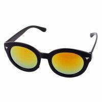 Unisex Yellow Oval Shape Lens Sport Eyewear Sunglasses Protector