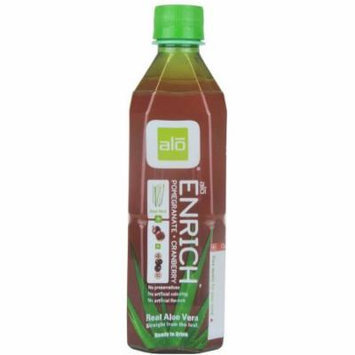 ALO Enrich Drink with Pomegranate Cranberry, 50.7 Fluid Ounce (Pack of 6)