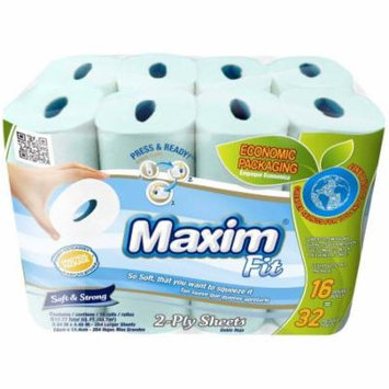 Maxim Fit Soft & Strong 2-Ply White Bathroom Tissue, 264 sheets, 16 rolls