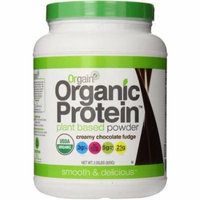 Orgain Organic Protein Creamy Chocolate Fudge Plant-Based Powder, 2.05 lbs