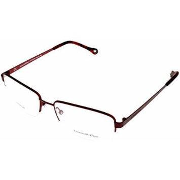 Ermenegildo Zegna Womens Prescription Eyeglasses Frame Titanium Wine Semi VZ3361 08G1
