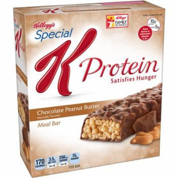 Kellogg's Special K Protein Chocolate Peanut Butter Meal Bars, 1.59 oz, 6 count, (Pack of 6)