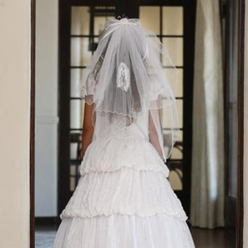 Angels Garment Girls White Rhinestone Tiara Lady of Guadalupe Veil