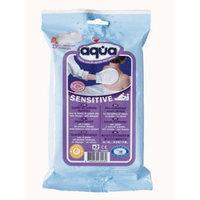 Pre-Moistened no rinse Aqua Sensitive Wash Gloves, 2 count