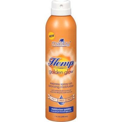Malibu Tan Hemp Golden Glow Express Spray-On Bronzing Moisturizer, 7 fl oz