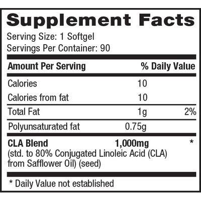 1 Up Nutrition 8810003 Conjugated Linoleic Acid - 1000 Mg. 90 Capsules