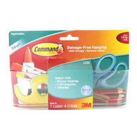 Command Clear Large Caddy, Holds 4 lbs