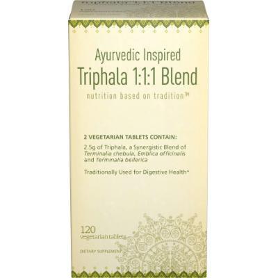 Puritan's Pride Ayurvedic Inspired Triphala 1:1:1 Blend 1250 mg-120 Vegi Caps