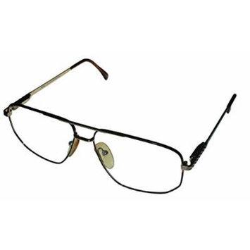 Bob Mackie Mens Gold Tortoise Metal Aviator Eyewear Frame BM 755