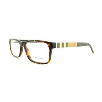 Burberry Men's BE2162-3002-53 Tortoiseshell Rectangle Sunglasses