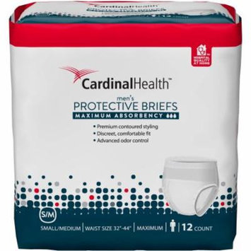 Cardinal Health Maximum Absorbency Men's Protective Briefs, Small/Medium, 12 count