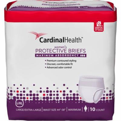 Cardinal Health Maximum Absorbency Women's Protective Briefs, Large/Extra Large, 10 count