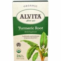 Alvita Organic Turmeric Herbal Supplement Tea, 24 count, 1.27 oz, (Pack of 3)