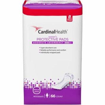 Cardinal Health Moderate Absorbency Women's Protective Pads, Regular Length, 66 count
