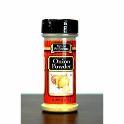 Pack of 12 Spice Supreme Onion Powder Seasonings 2.5 oz. #30550