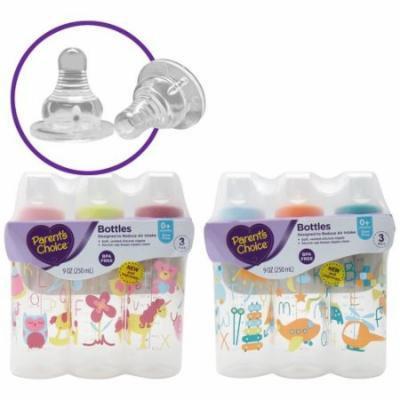 Parent's Choice BPA Free Bottles, 9 oz, 3 count