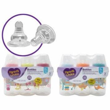 Parent's Choice BPA Free Bottles, 5 oz, 3 count