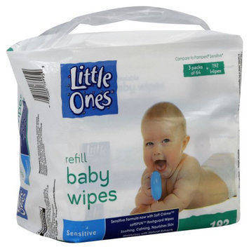 Little Ones Refill Baby Wipes, Sensitive, 192 wipes
