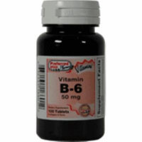 Vitamin B-6 50 mg tablets 100 ea