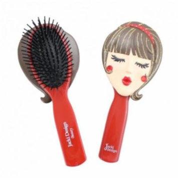 Jacki Design JGS22055RD Tina Style Hair Brush, Red