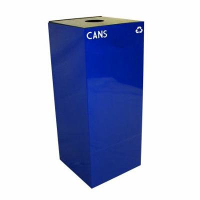 Geocube Collection 36 Gal. Can and Bottle Recycling Container (Blue)