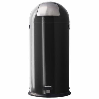 Witt Industries 13DTP-BK 13. 5 Gallon Dome Step-On Trash Receptacle - Black
