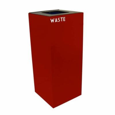 GeoCube Collection 36 Gal. Waste and Plastic Recycling Container (Blue)