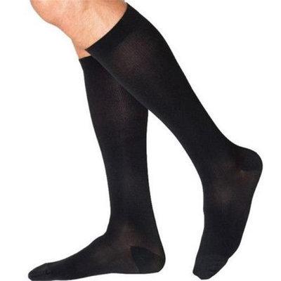 Sigvaris Cotton 232CXSM99-S 20-30 mmHg Mens With Grip Top Socks Black - Extra Large Short