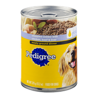 Pedigree® Wet Dog Food Chopped Ground Dinner Combo with Chicken, Beef & Liver