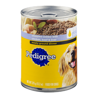 Pedigree Dog Food Meaty Ground Dinner Chicken, Beef & Liver