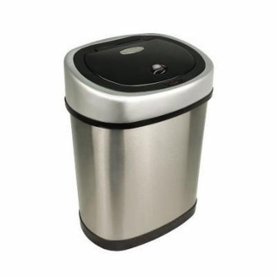 Nine Stars 3.1-Gal Stainless Steel Motion Sensor Trash Can