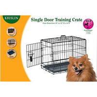 Krislin Single Door Dog Crate, 36 inch