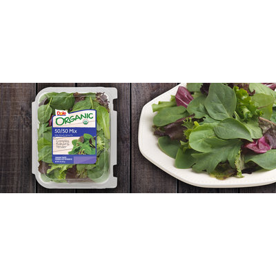 Dole 50/50 Organic Spring Mix and Baby Spinach