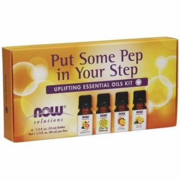 Put Some Pep In Your Step Uplifting Essential Oils Kit Now Foods 4-10 mL Oil