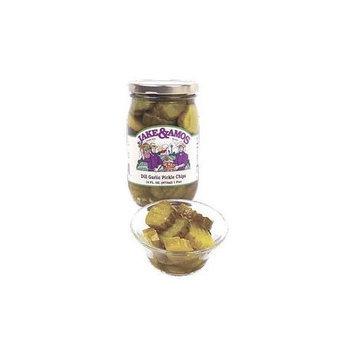 Jake Amos Jake & Amos Dill Garlic Pickle Chips 16oz (Case of 12)