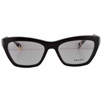 Prada PR14QV Eyeglasses 53-17-140 Dark Brown DHO1O1 VPR14Q For Women (FRAME ONLY)