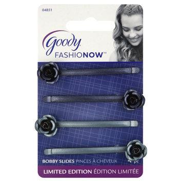 Goody Products Inc. FashioNow Rose Charm Bobby Slides, 4 CT