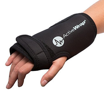 ActiveWrap Hot and Cold Wrist Hand Compress Black
