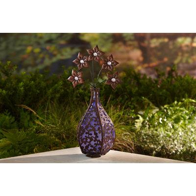 Essential Garden Solar Vase Blossoms Purple - SUN-IT CORPORATION