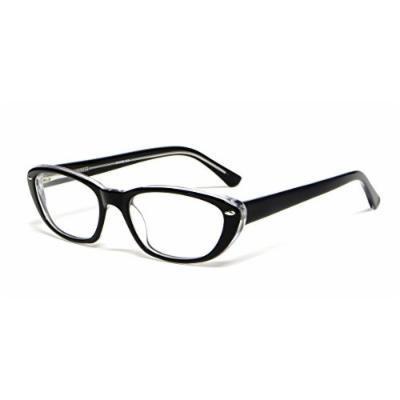 Calabria Viv Designer Reading Glasses 810 in Black Crystal :: Demo Lens