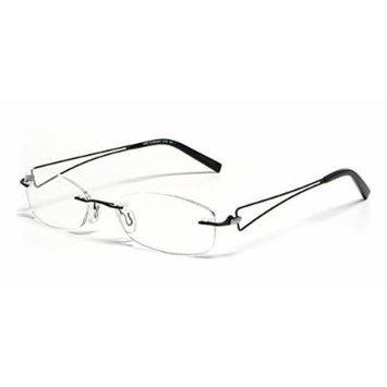 Calabria Viv Designer Reading Glasses 204 in Black :: Demo Lens