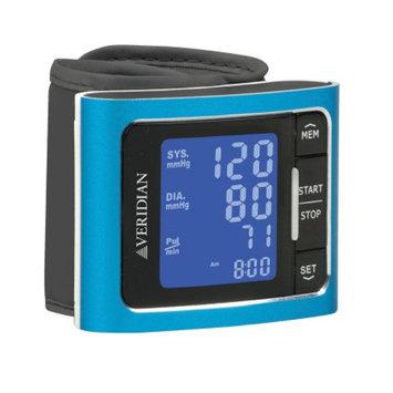 Veridian Healthcare Metallic Style Wrist Blood Pressure Monitor, Blue, 1 ea