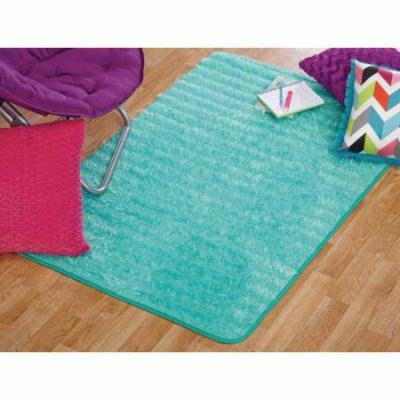 your zone lacey fur rug, spearmint, 3' x 4'8