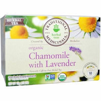 Traditional Medicinals Organic Chamomile with Lavender Herbal Supplement Tea, 0.56 oz, 10 count