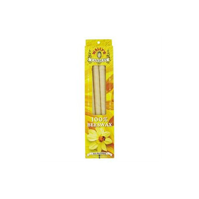 100% Beeswax Hollow Ear Candles, 4 pk, Wally's Natural Products