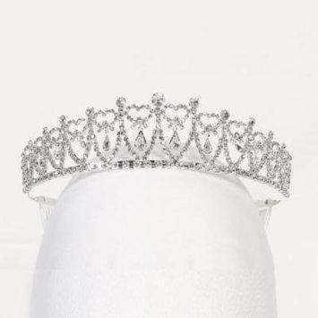 Angels Garment Girls Silver Rhinestone Dangling Royal Crown Tiara