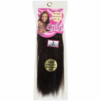 Envy Hair Collection Silky Straight Weave Hair Extension, 2 Dark Brown