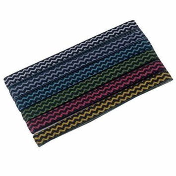Knotties Girls Multi Color Chevron Stripe Ponytail Holder Set